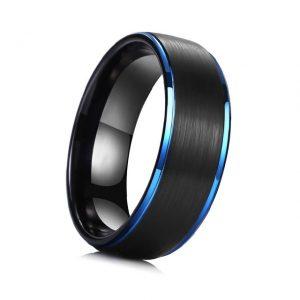 8mm Blue Stepped Edge Polished Black Lining Brushed Black Centre Strip