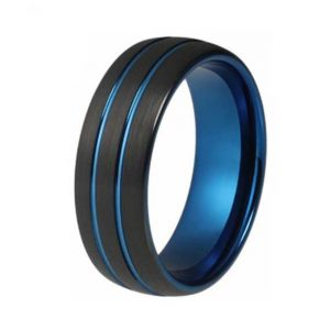 mens-8mm-black-with-double-blue-inlaid-lines-tungsten-ring