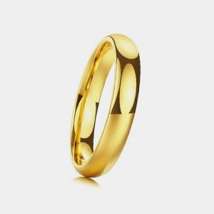 Tungsten 4mm Plain Polished Gold Ring customtungstenrings.co.uk Thumb