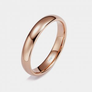 Tungsten-Rose-Gold-4mm-Wedding-Ring-Custom-Tungsten-Ring Thumb