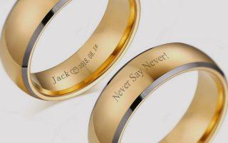 Custom Tungsten Rings Engraving