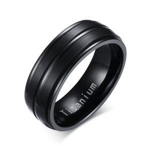 Black Titanium Carbide 8mm Wedding Ring
