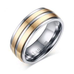 Custom Tungsten Rings Gold Silver Titanium Carbide 8mm Wedding Ring