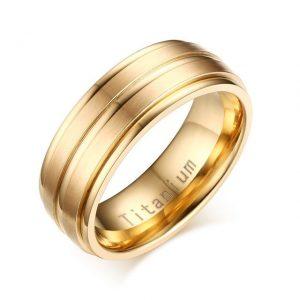 Custom Tungsten Rings Gold Titanium Carbide 8mm Wedding Ring