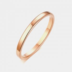 Rose Gold 2mm Polished Custom Tungsten Rings Thumb