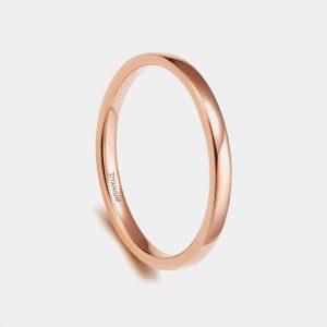 Titanium 2mm Rose Gold Wedding Custom Tungsten Rings