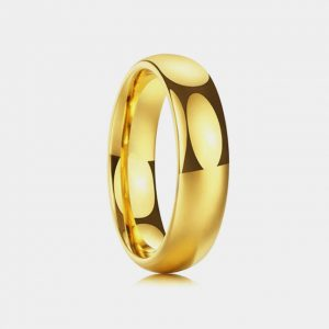 Tungsten Traditional 6mm Gold Wedding Ring