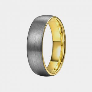 Tungsten 6mm Brushed Silver Ring